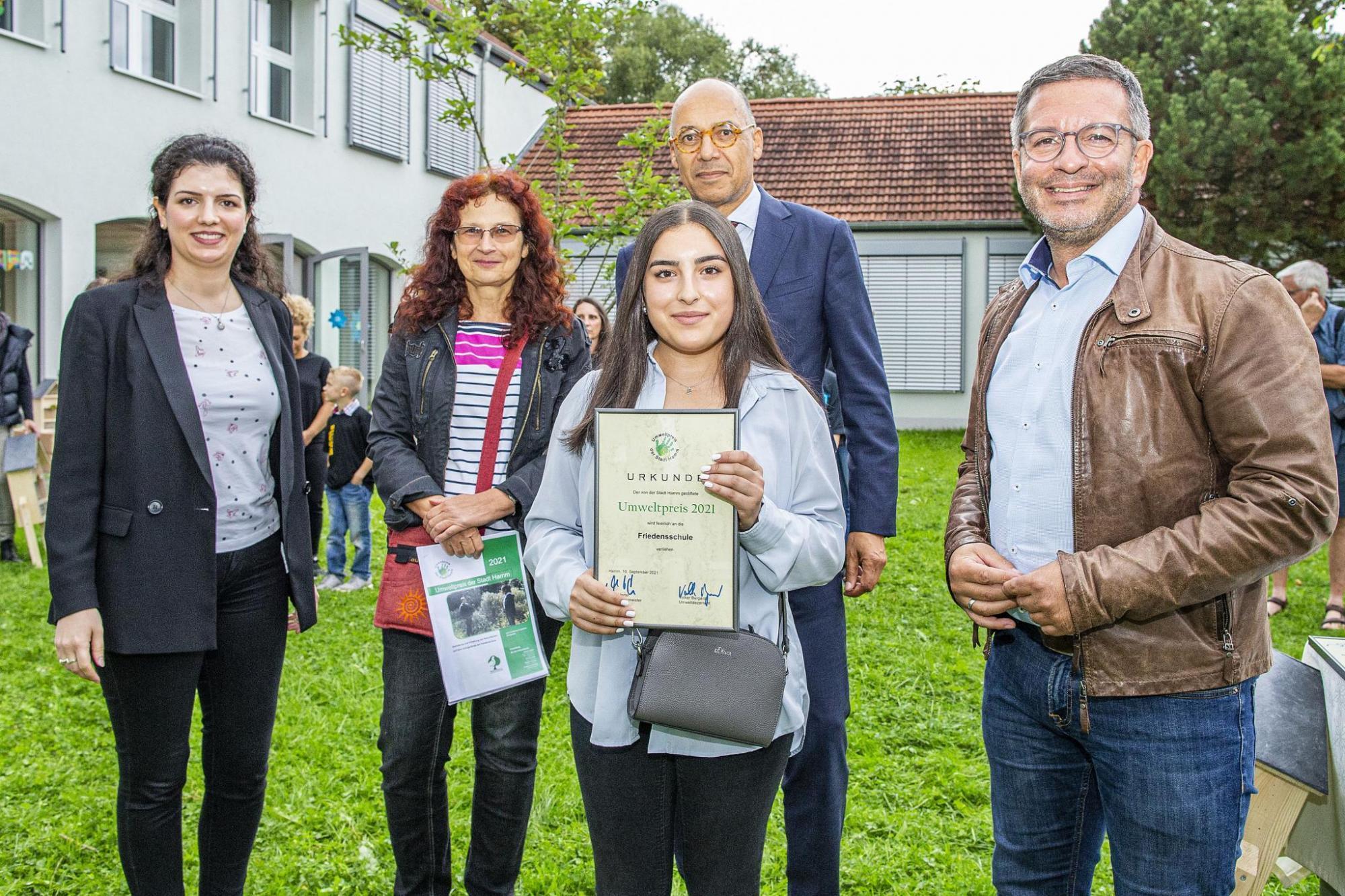 Die Friedensschule zählt zu den Siegerschulen des Umweltpreises 2021