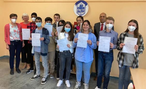 Französisches Sprachdiplom für unsere Schülerinnen und Schüler mit Corona Hindernissen